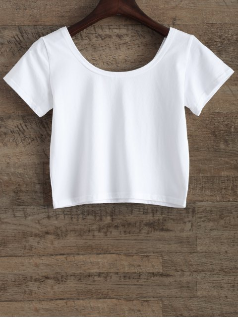 new Funny Crop Top - WHITE S Mobile