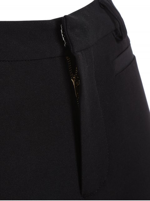 hot Ruffled Cuffs Pants - BLACK M Mobile