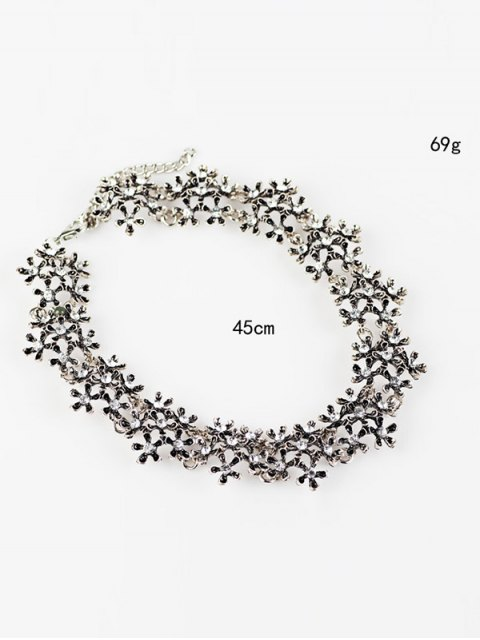 online Rhinestoned Snowflake Choker Necklace -   Mobile