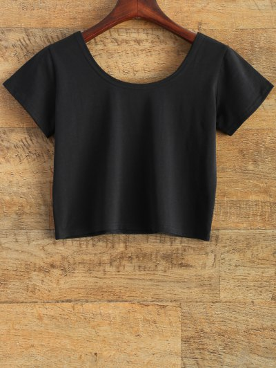 Tits Print Funny Crop Top - BLACK M Mobile