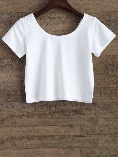 Funny Crop Top - WHITE M Mobile