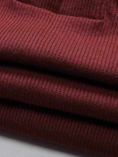 Long Sleeves Lace Up Cold Shoulder Bodysuit - GRAY L Mobile