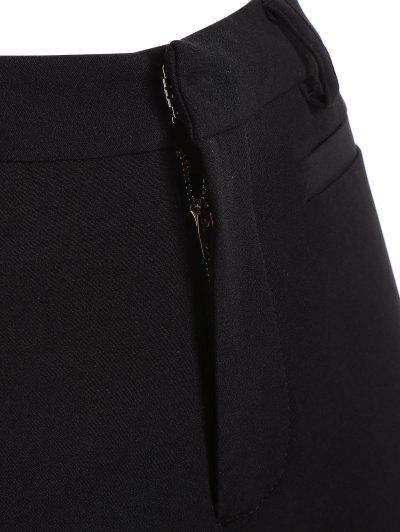 Ruffled Cuffs Pants - BLACK L Mobile