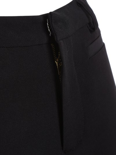 Ruffled Cuffs Pants - BLACK S Mobile