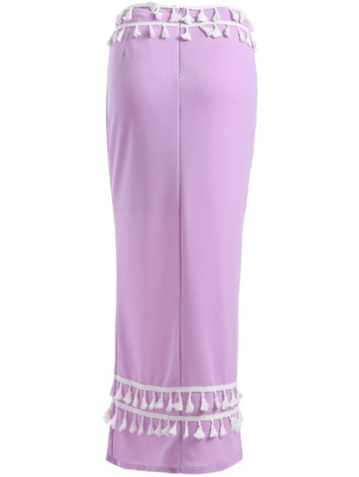 Maxi Meimerd Skirt - PURPLE L Mobile