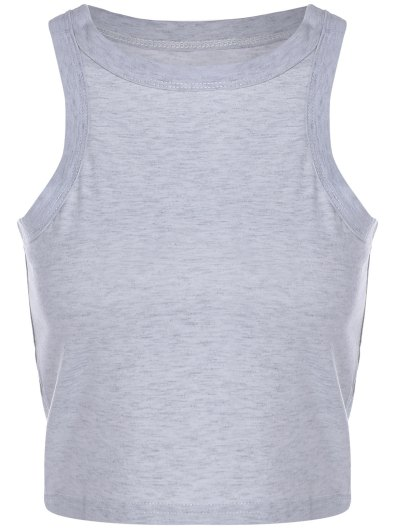 Racerback Crop Top - GRAY XL Mobile