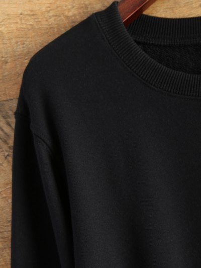 Pullover Crewneck Sweatshirt - BLACK L Mobile