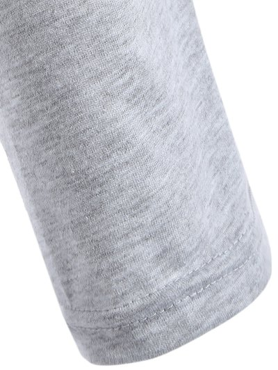 V Neck Surplice T Shirt - GRAY S Mobile