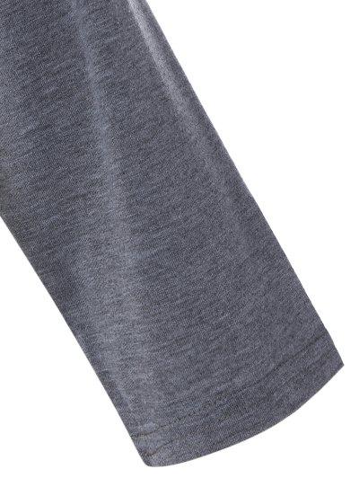 Color Block Happy T Shirt - WHITE S Mobile