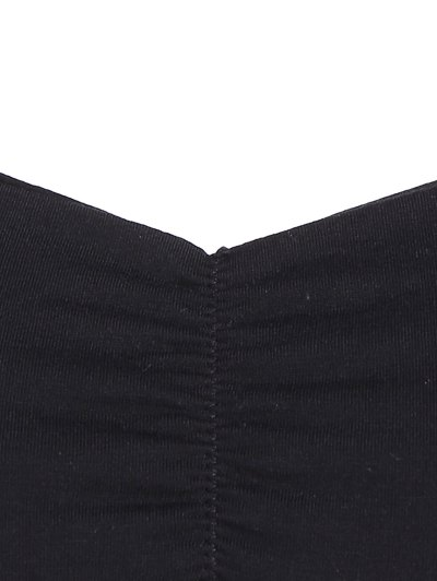 Padded Cropped Bandage Yoga Top - BLACK ONE SIZE Mobile
