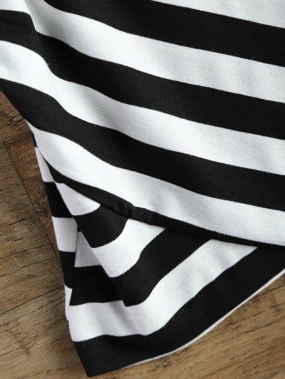 Stripes V Neck Surplice Cami Top - STRIPE ONE SIZE Mobile