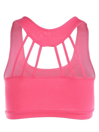Padded Back Strappy Yoga Top - ROSE RED ONE SIZE Mobile