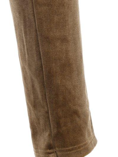 Slimming Metallic Color Leggings - LIGHT COFFEE L Mobile