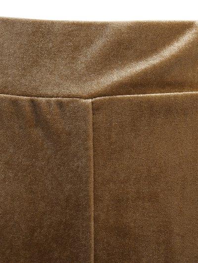 Slimming Metallic Color Leggings - LIGHT COFFEE M Mobile