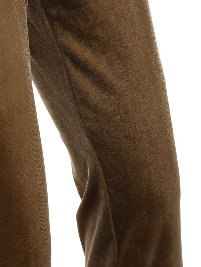Slimming Metallic Color Leggings - LIGHT COFFEE S Mobile