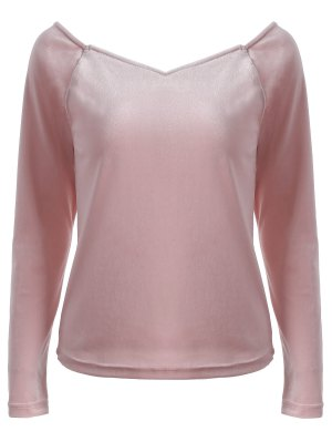 V Neck Slimming T-Shirt - Pink