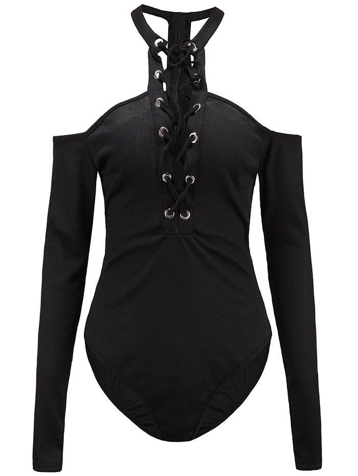 Long Sleeve Cold Shoulder Bodysuit