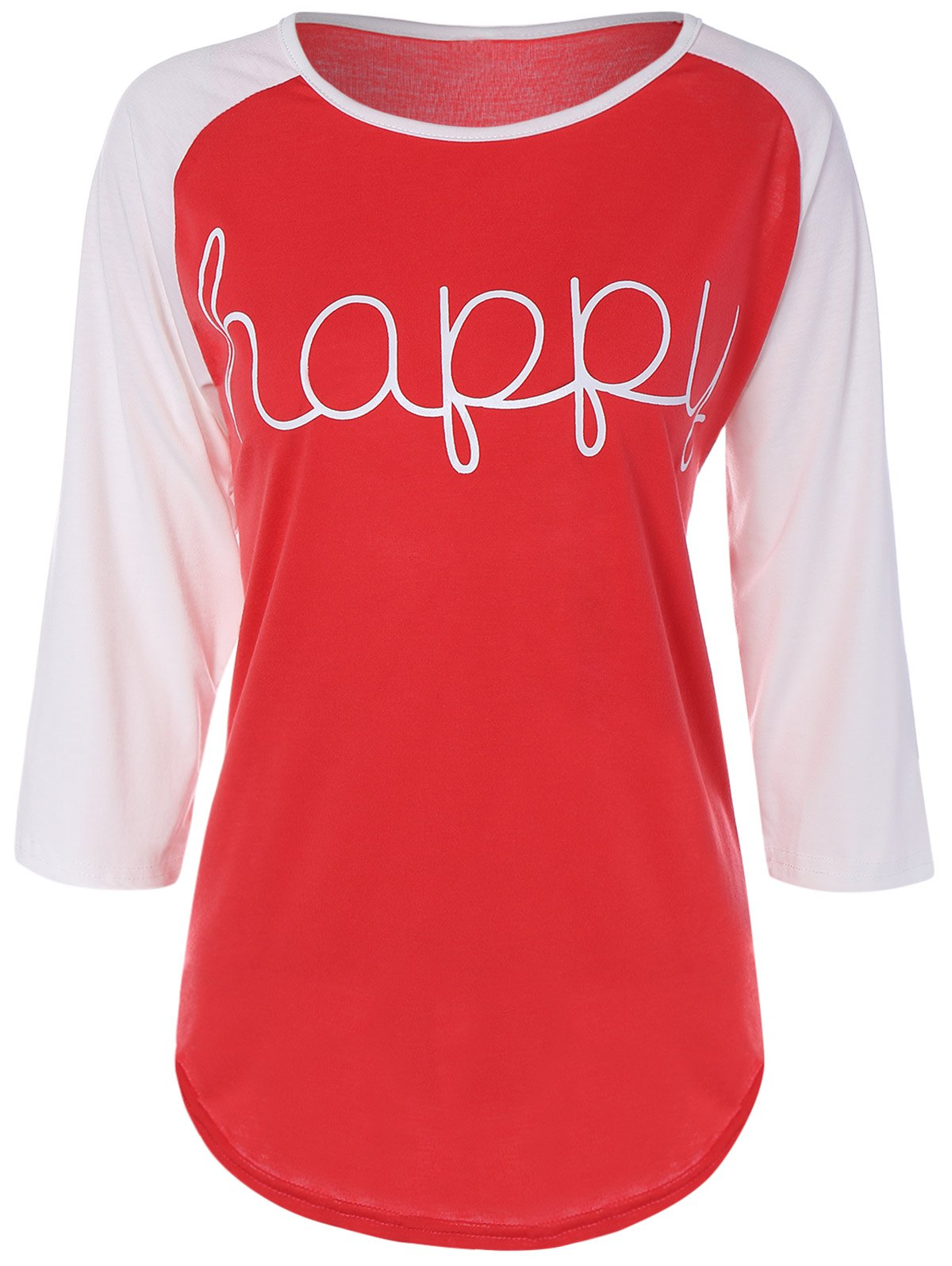 Color Block Happy T Shirt