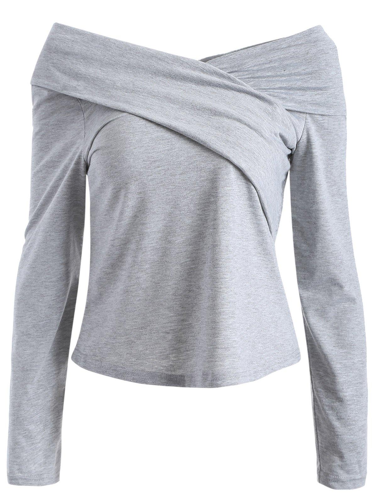 V Neck Surplice T-Shirt