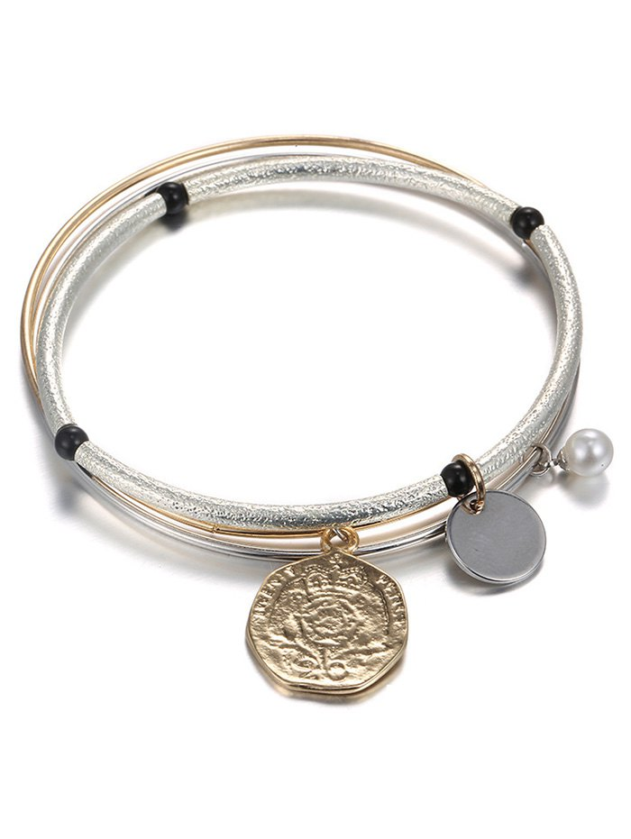 Layered Coin Bracelet