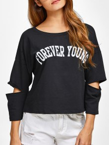 Buy Cut Forever Young Tee 2XL BLACK