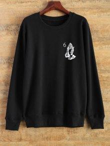 Pullover Crewneck Sweatshirt - Black M