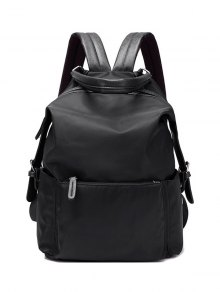 Double Buckle Splicing Zippers Backpack