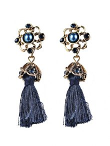 Vintage Tassel Rhinestone Drop Earrings