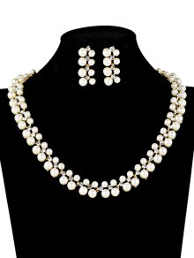 Fake Pearl Wedding Jewelry Set