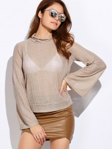 Back Cut Out Lace Up Turtle Neck Knitwear