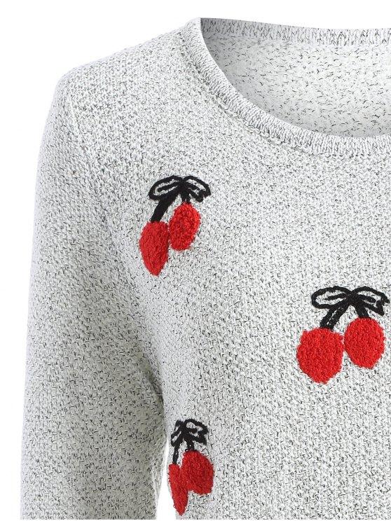 Cherry Panttern Sweatshirt - GRAY ONE SIZE Mobile