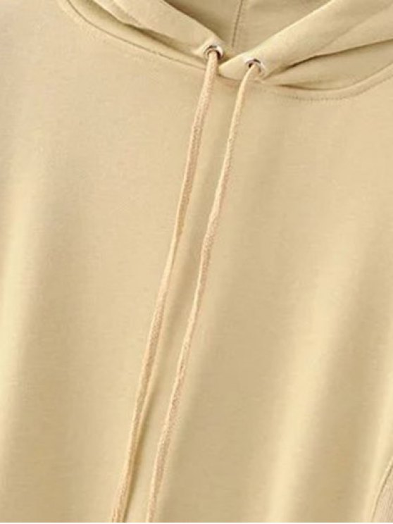 Front Pocket Floral Embroidered Hoodie - PALOMINO L Mobile