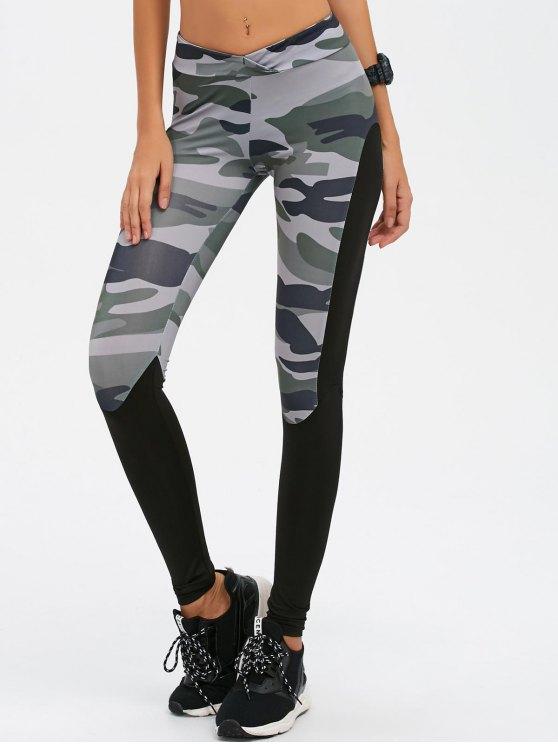 Camo Imprimer Insert Gym Leggings - Camouflage M