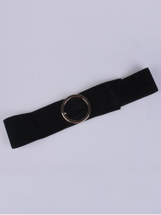 Hollow Ring Velvet Belt - BLACK  Mobile