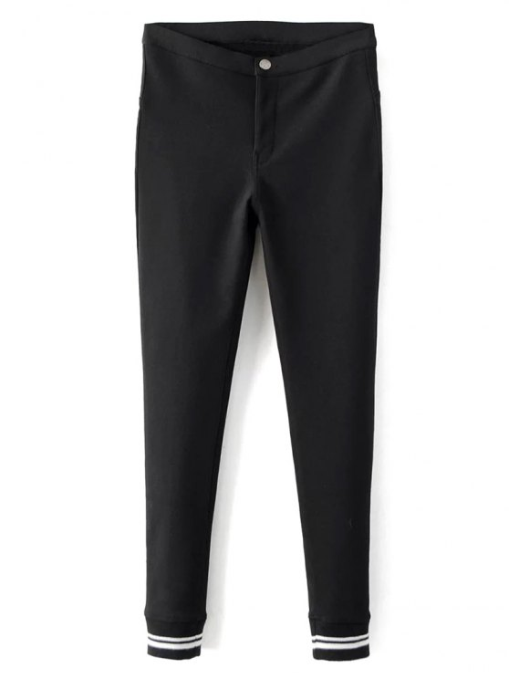 Fleece Lined Slim Pants - BLACK L Mobile