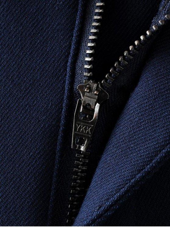 Fleece Lined Slim Pants - DEEP BLUE S Mobile