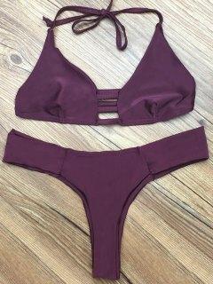 Deep Purple Halter Bikini Set - Deep Purple M