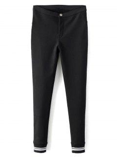 Pantalons Droits Et Moulants En Laine Polaire  - Noir S