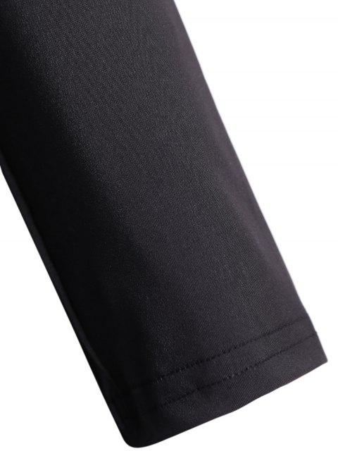 sale Off The Shoulder Long Sleeve Bodycon Dress - BLACK XL Mobile