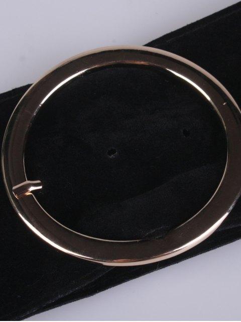 sale Hollow Ring Velvet Belt - BLACK  Mobile