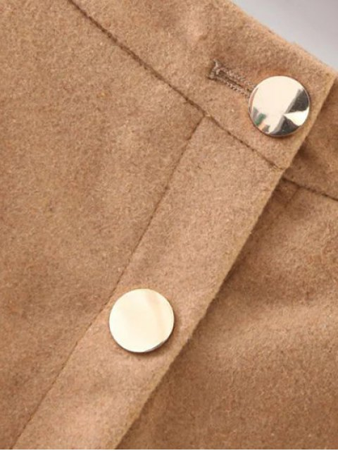 latest Winter Button Up A Line Skirt - CAMEL S Mobile