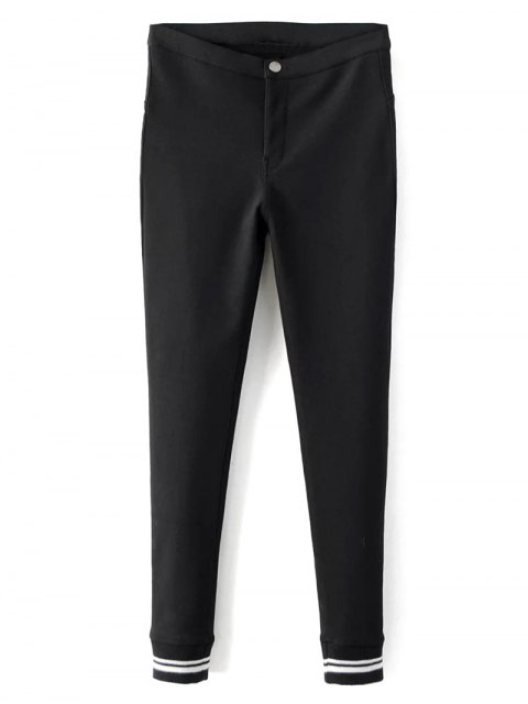 chic Fleece Lined Slim Pants - BLACK M Mobile
