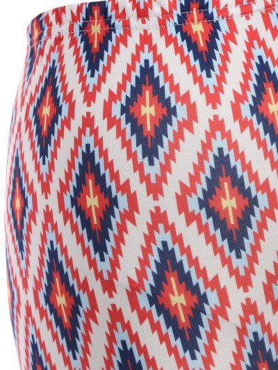 Argyle Leggings - RED ONE SIZE Mobile
