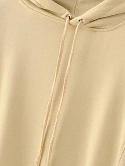 Front Pocket Floral Embroidered Hoodie - PALOMINO M Mobile