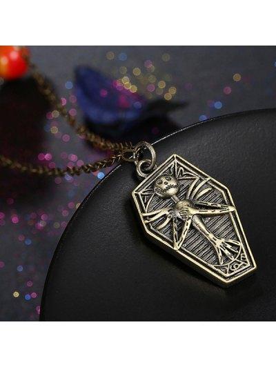 Retro Christmas Jack Necklace - BRONZE-COLORED  Mobile