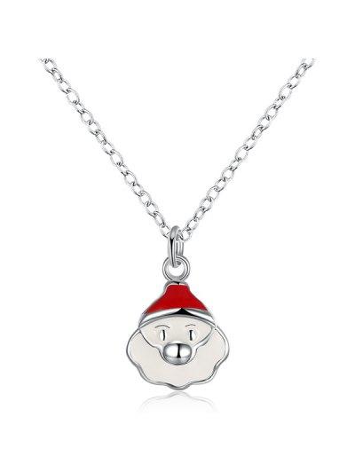 Christmas Santa Claus Enamel Jewelry Set - WHITE  Mobile