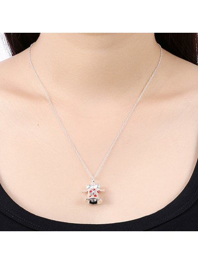 Enamel Bell Christmas Necklace - RED  Mobile