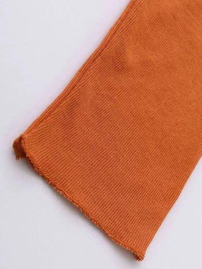 High Neck Long Sleeve Basic Tee - WHITE S Mobile
