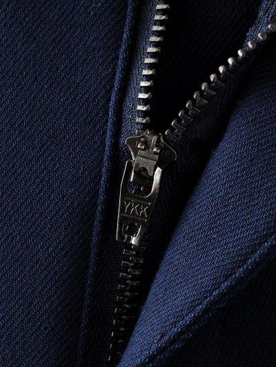 Fleece Lined Slim Pants - BLACK L Mobile