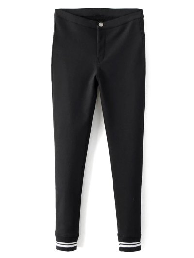 Fleece Lined Slim Pants - BLACK S Mobile